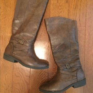 BareTraps Shoes - brown tall boots